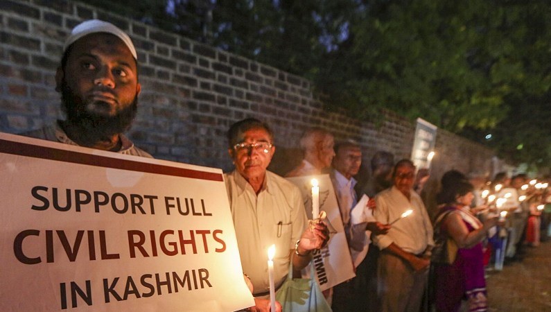 In Solidarity With Kashmiris: Candlelight Vigil In Gujarat