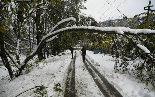 Heavy Snowfall Cripples Life Across Kashmir
