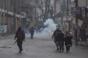 Violent Protests In Nowgam After Police Vehicle Crushes Student