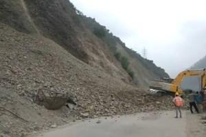 Landslides, Shooting Stones Block Highway