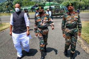 Rajnath Singh Reviews Kashmir Security in Srinagar