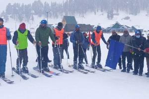 Snow Cycling, Ski Mountaineering Events Held at Gulmarg