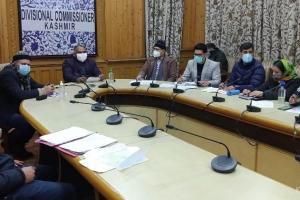 Div Com Reviews Progress On Manasbal Lake Development Project