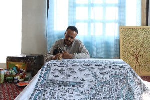 Artist Puts City On Canvas, Maps Srinagar On Fabric