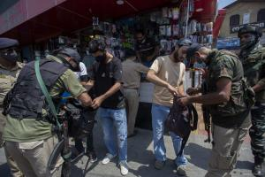 Searches, Frisking Intensified In Kashmir Ahead Of Aug 15- Photo Feature
