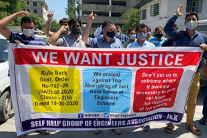 I and many Self Group of Engineers' Livelihood Stands Snatched