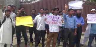 Aspirants protest against JKSSB in Srinagar