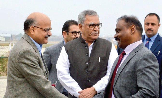 GC Murmu arrives in Srinagar