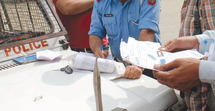 Lockdown months see huge dip in traffic challans