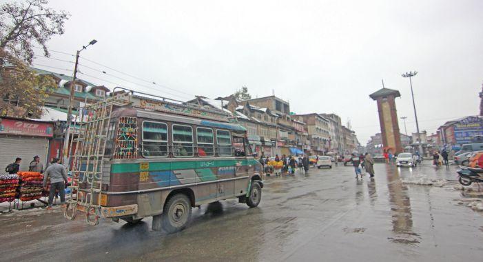 Passenger buses were seen plying in Srinagar
