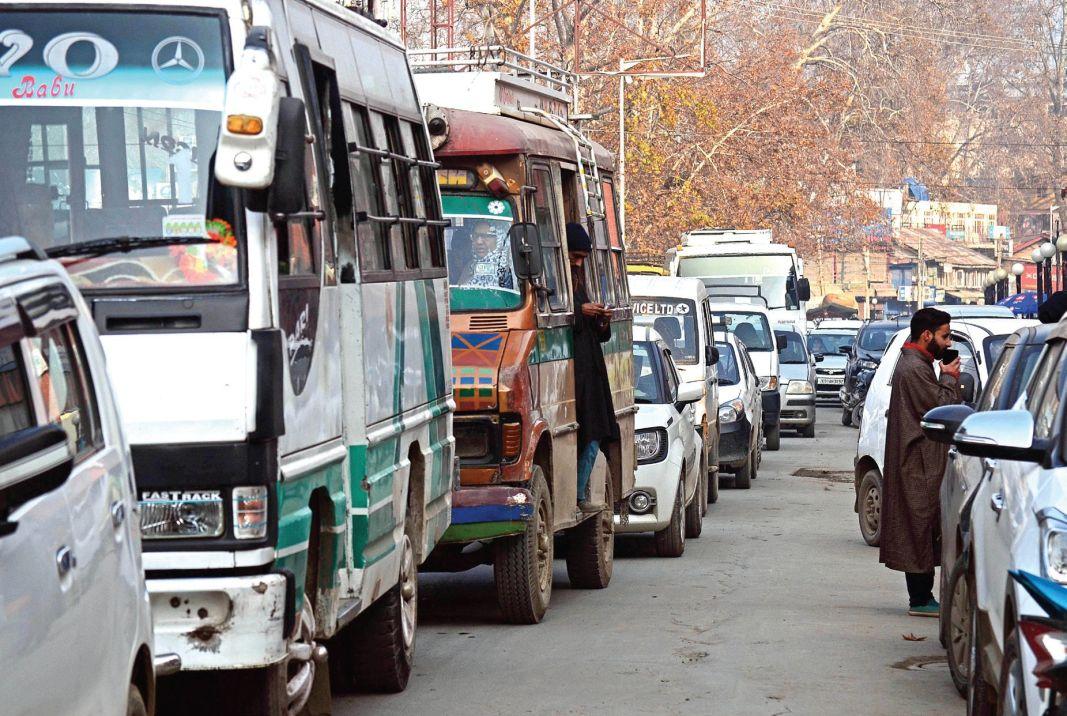 Traffic jams due to haphazard parking on roads