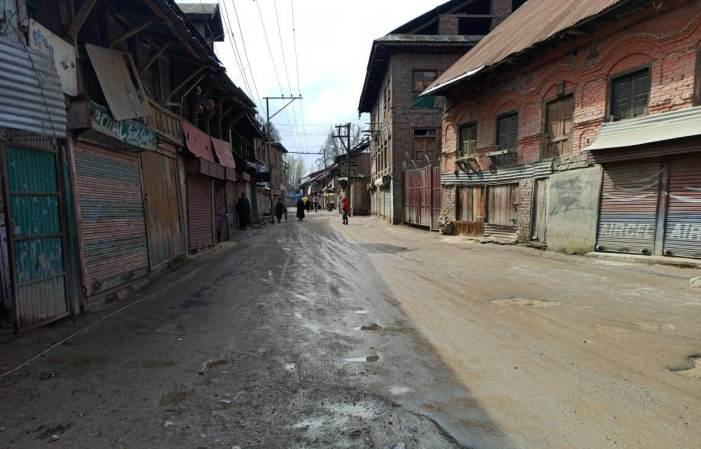 Curfew-like restrictions in Kashmir as part of Janata curfew