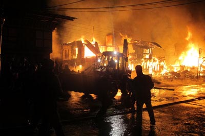 Dozen residential houses gutted in Gurez