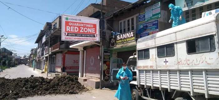 NambalbalPampore among areas in Pulwama declared Red Zones