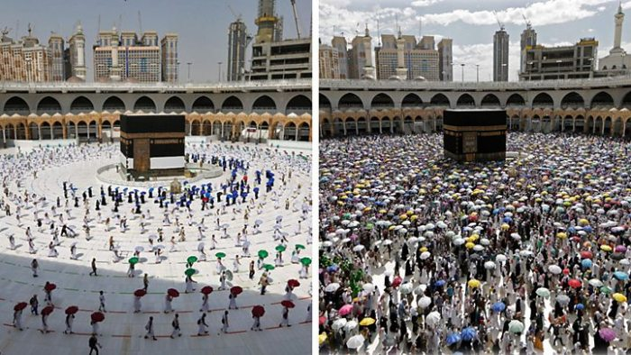 Very different, symbolic hajj in Saudi Arabia