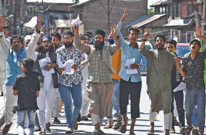 Blasphemous remarks: Protests rock Kashmir on Friday