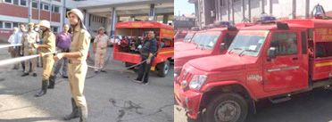 JK gets Quick Response Vehicles for fire fighting