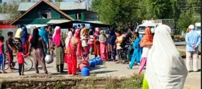 Water shortage triggers protest in Sopore village
