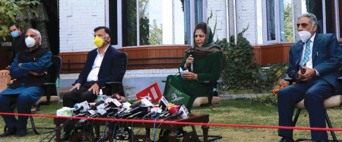 BJP after our territory, one day they will fall on our feet: Mehbooba