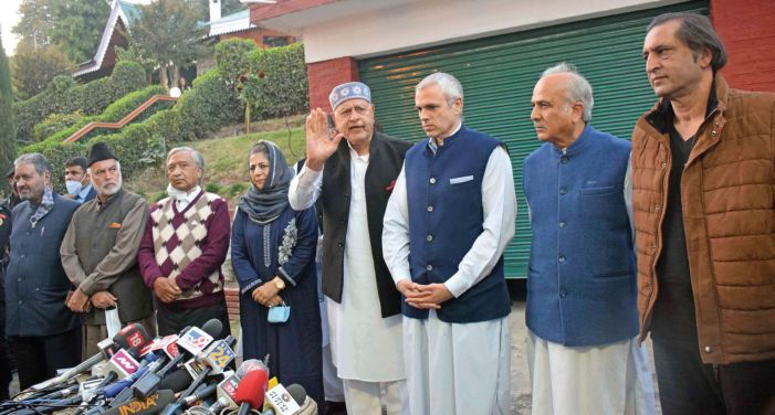 Farooq knocks EC door, says PAGD candidates whisked away to 'secure locations', not allowed to canvass
