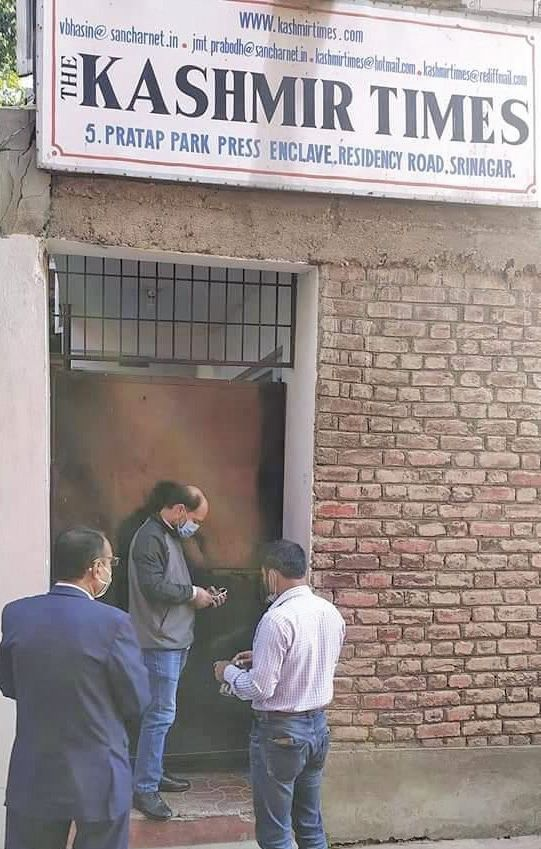 Kashmir Times office sealed, editor says 'will fight'