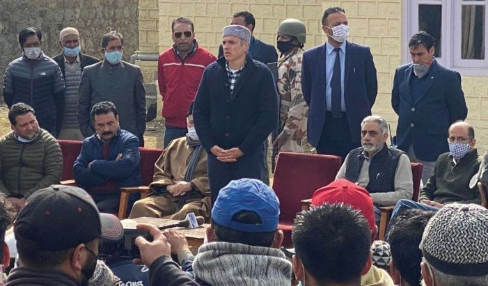 Led by Omar, People's Alliance visits Ladakh to promise re-unification