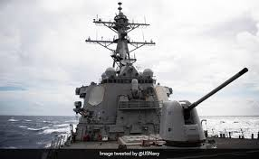 China tracks US Navy ship's passage through Taiwan Strait