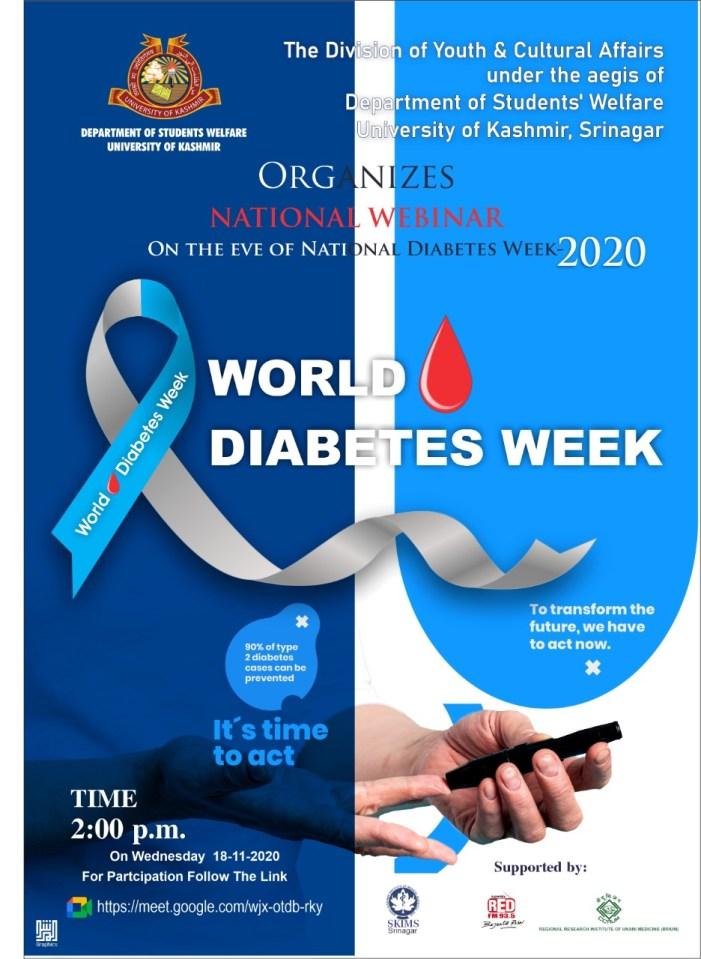 VC KU inaugurates national-level webinar on diabetes