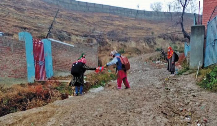 Dangerous, unpaved road to Budgam village left in disrepair due to 'limited' MNREGA funds