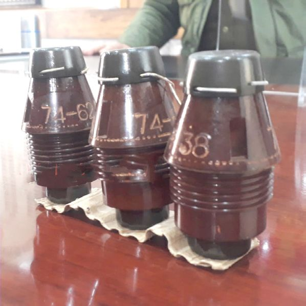 Hand grenades recovered from an OGW in Baramulla: Police