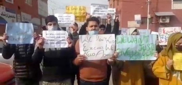 Selected para medical students protest, demand admission