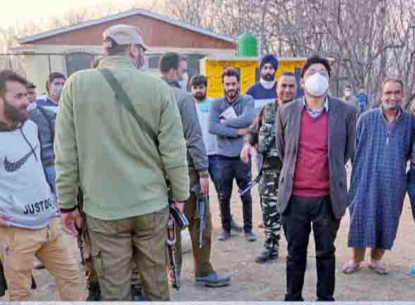 DC Pulwama tours Pampore villages, reviews projects