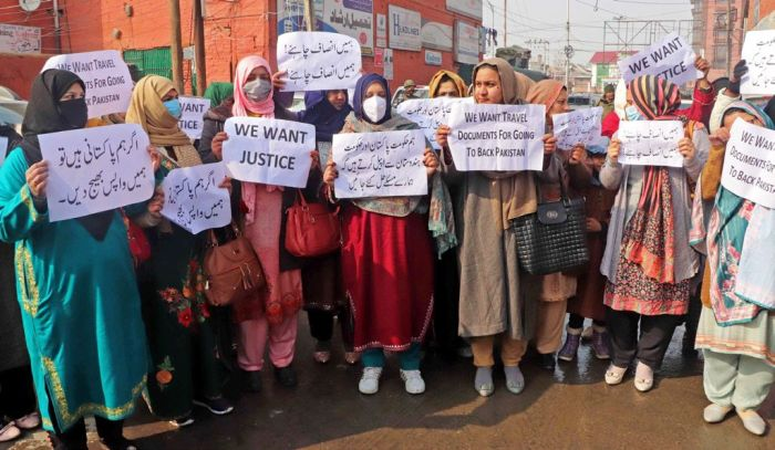 Protest held by Pak women married to ex-militants, seek citizenship, travel document