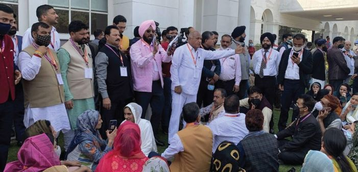 DDC members boycott training session in Jammu, stage protest