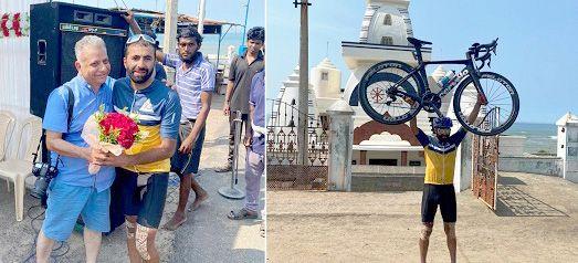 Kashmiri cyclist rides 3600 Km in 8 days