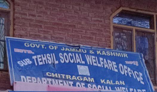 None of Shopian's 7 tehsils have a social welfare office