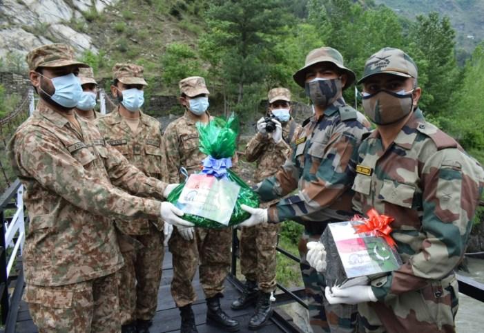 India,Pak armies exchange sweets at LoC on Eid
