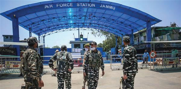 Two 'drones' drop explosives at IAF station in Jammu airport