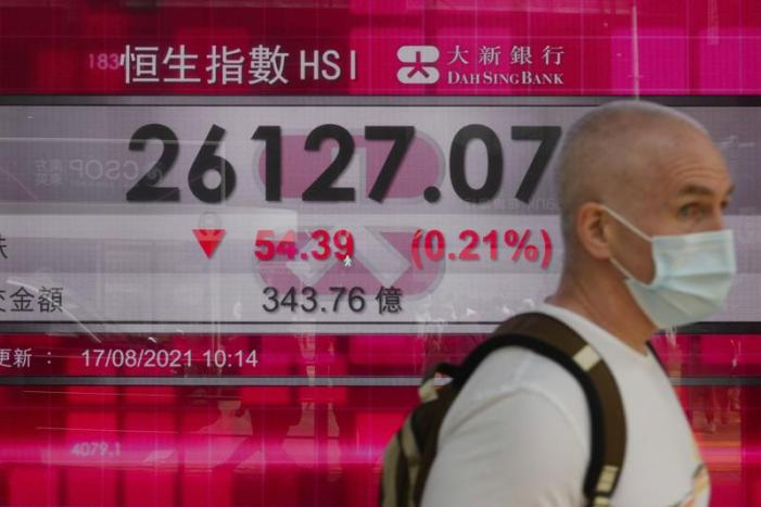 Global markets lower amid China, Afghanistan unease