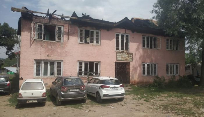 Govt building gutted in fire in 2017 abandoned by govt