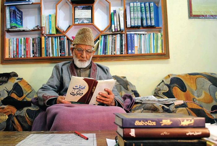 Geelani's sons say went searching for father's grave in the morning