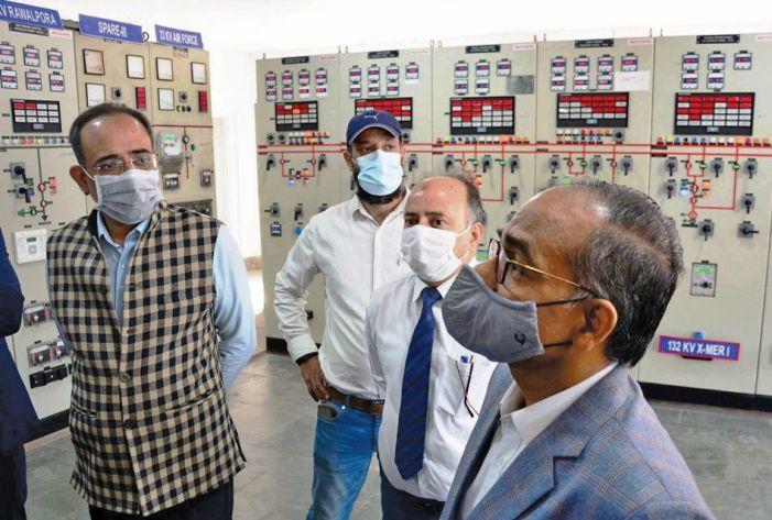 Union Secretary Power reviews J&K sector