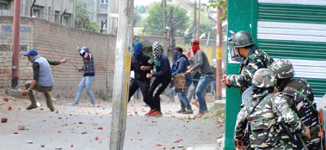 Massive clashes in Sopore as funeral of slain militant tear gassed by police