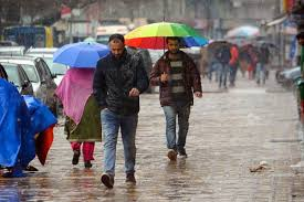 Isolated light showers forecast in Kashmir