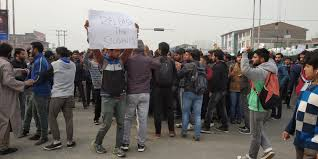 CUK students block Srinagar-bypass road over detention of students