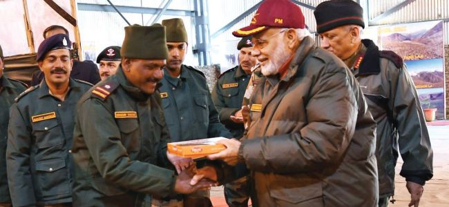 PM Modi reaches Harshil near Indo-China border to celebrates Diwali with soldiers