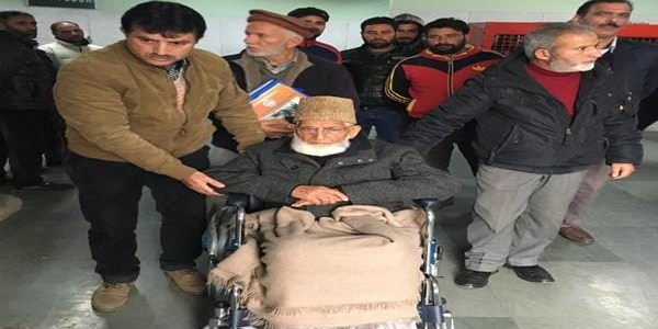 SA Geelani undergoes check up at SKIMS, had complained of chest pain