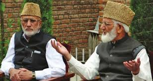 OP Shah meets Geelani, Sehrai at Hyderpora
