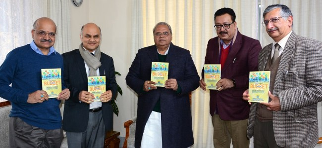 Governor Malik releases Compendium on Budget 2019-20