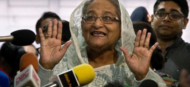 Sheikh Hasina registers landslide win in Bangladesh polls, opposition cries foul